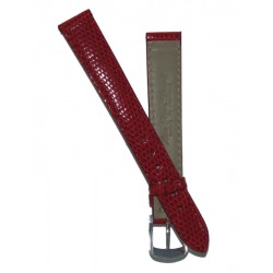 Red Lady Watch Strap Lizard Imitation