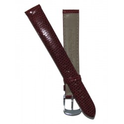 Burgundy Lady Watch Strap Lizard Imitation