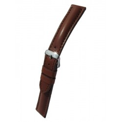 Brown Breitling Style Leather Watch Strap