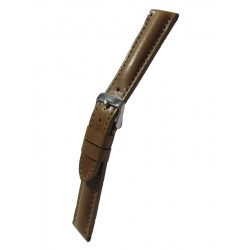 Beige Breitling Style Leather Watch Strap