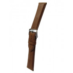 Light Brown Cowhide Leather Watch Strap with Square Padding
