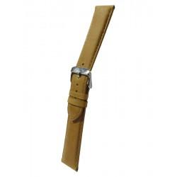 Bracelet Montre Cuir Miel Rembourrage Carré Vachette Véritable