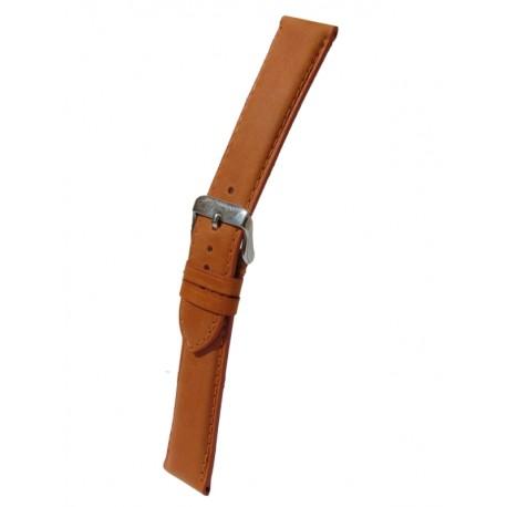 Bracelet Montre Cuir Orange Rembourrage Carré Vachette Véritable