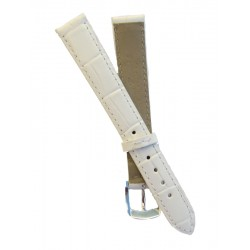 White Flat Alligator Grain Lady Watch Strap