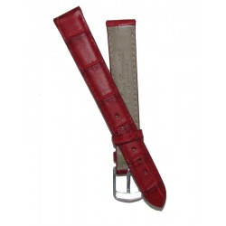 Red Flat Alligator Grain Lady Watch Strap