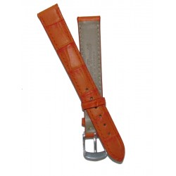 Orange Flat Alligator Grain Lady Watch Strap