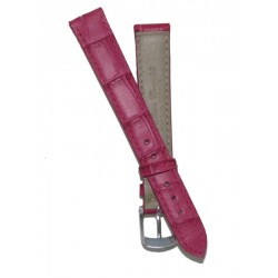 Pink Flat Alligator Grain Lady Watch Strap