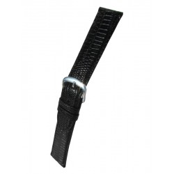 Black Teju Lizard Grain Watch Strap