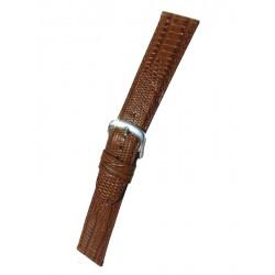 Bracelet Montre Cuir Gold Imitation Téju Plat
