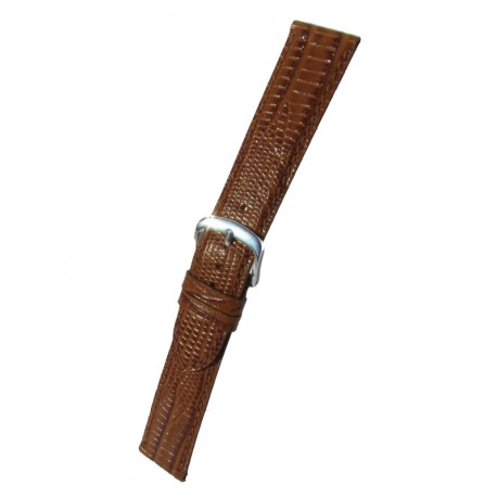 Gold Teju Lizard Grain Watch Strap