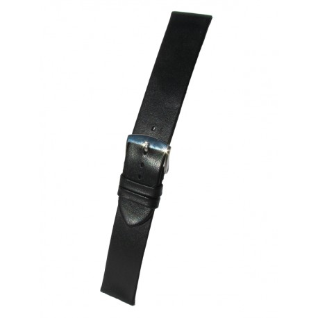 Black Ultra-thin Leather Watch Strap Without Stitching