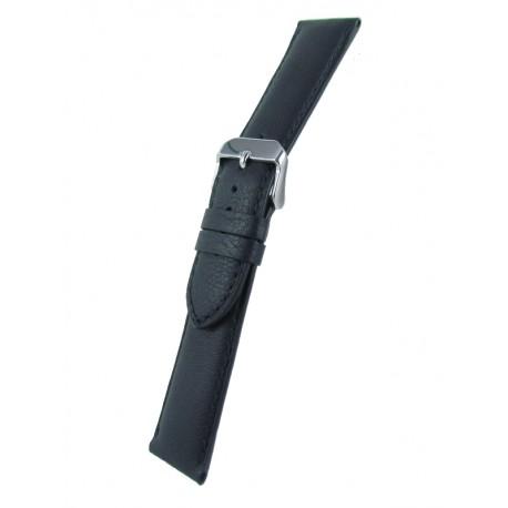 Bracelet Montre Extra Long Noir Cuir de Taureau