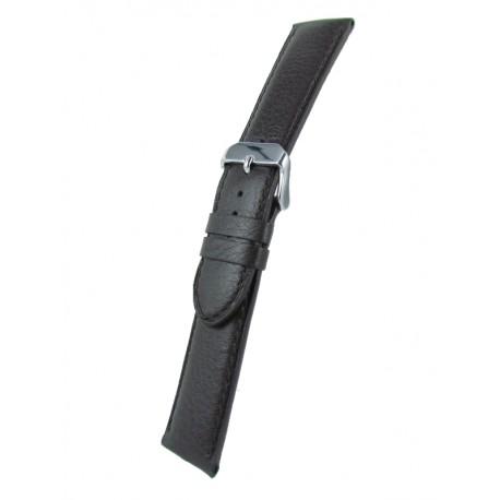 Bracelet Montre Extra Long Marron Foncé Cuir de Taureau
