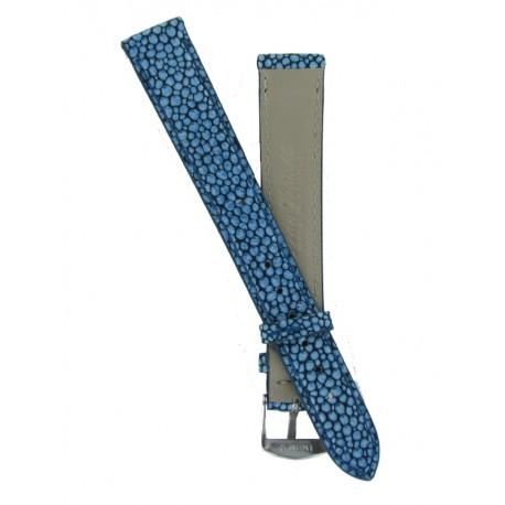 Bracelet Montre Femme Imitation Galuchat Bleu