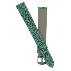 Bracelet Montre Femme Imitation Galuchat Vert