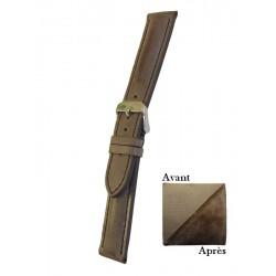 Bracelet Montre Cuir Marron Veau Démasquable