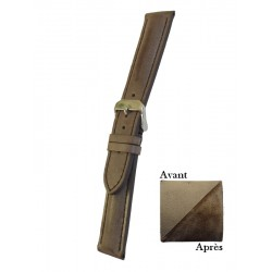 Brown Leather Watch Strap With Patina