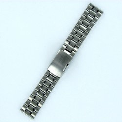 Solid Steel Watch Band - Brushed/Polished Steel Finish