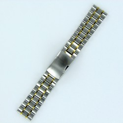Solid Steel Watch Band - Bicolor Finish