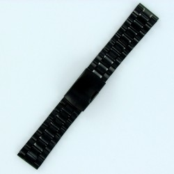 Solid Steel Watch Band - Black PVD Finish