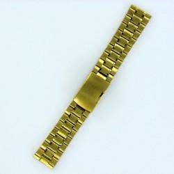 Bracelet Montre Acier Massif Doré