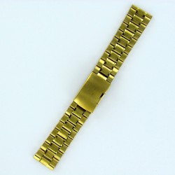 Solid Steel Watch Band - Gold Finish