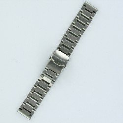 Solid Steel Watch Band Brushed Steel Finish