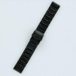 Bracelet Montre Acier Massif Finition Noir PVD