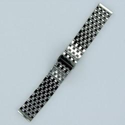 Bracelet Montre Acier Massif 7 rangées  de maillons Finition Acier Poli