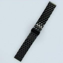 Bracelet Montre Acier Massif 7 rangées de maillons Finition Noir PVD
