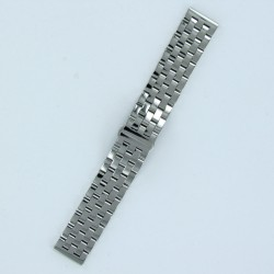 5-Row Links Stainless Steel Watch Band Polished Steel Finish