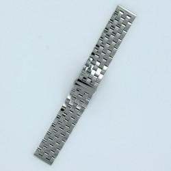Bracelet Montre Acier Massif 5 rangées de maillons Finition Acier Poli