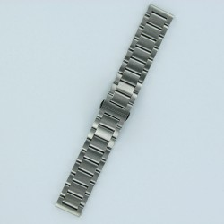 Solid Steel Watch Band Brushed Steel Finish Invisible Buckle