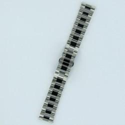 Bracelet Montre Acier Massif Finition Acier Brossé/Poli Boucle Invisible