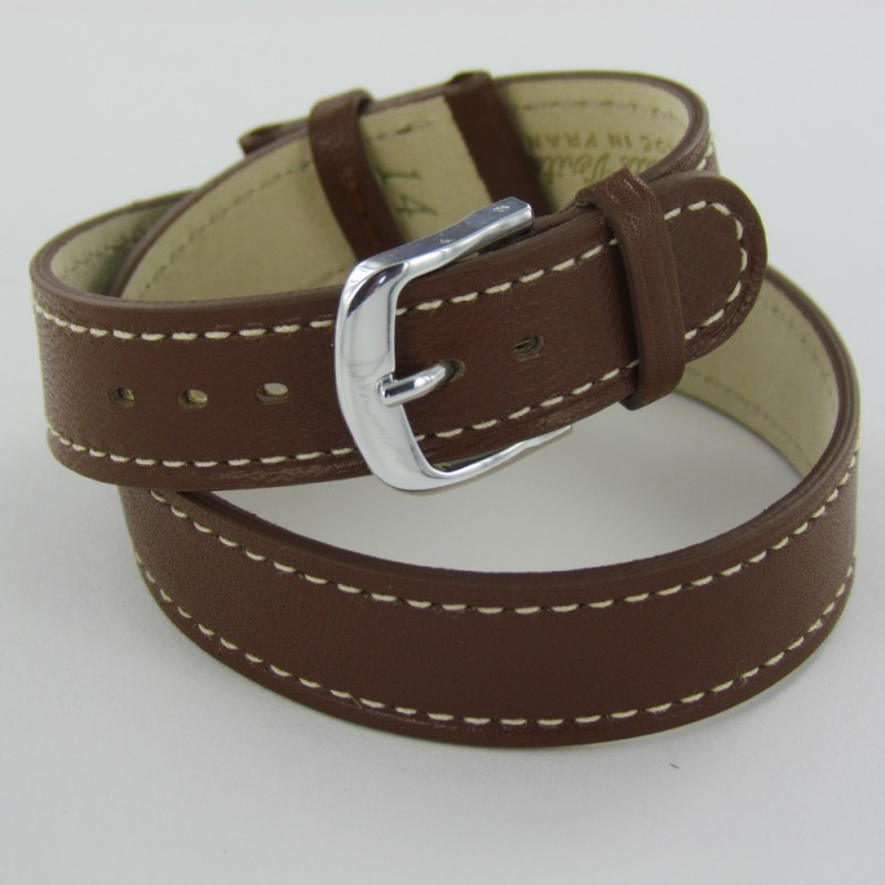 Exceptionnel Bracelet montre double tour femme cuir marron DY94