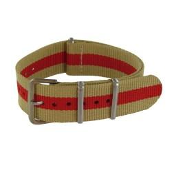 Beige/Red Nato Strap
