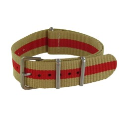 Bracelet Nato Beige/Rouge