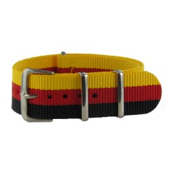 Bracelet Nato Noir/Rouge/Jaune