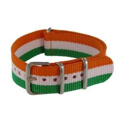 Bracelet Nato Vert/Blanc/Orange