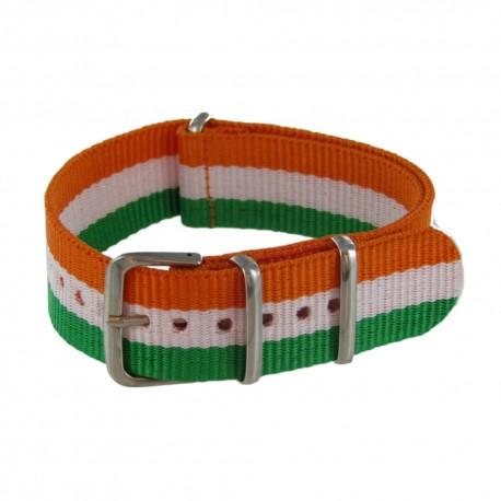 Green/White/Orange Nato Strap