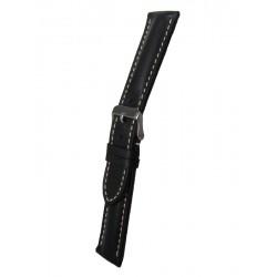 Bracelet Montre Cuir Noir Style Breitling
