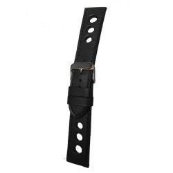 Bracelet Montre Racing Noir Cuir Vachette