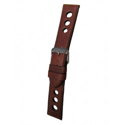 Dark Brown Racing Watch Strap