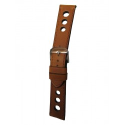 Light Brown Racing Watch Strap