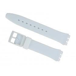 Bracelet Silicone Blanc pour montre Swatch