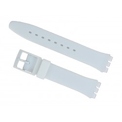 White Silicone Strap for Swatch Watch