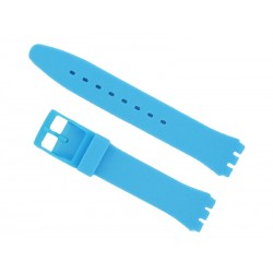 Blue Silicone Strap for Swatch Watch