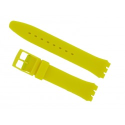 Yellow Silicone Strap for Swatch Watch