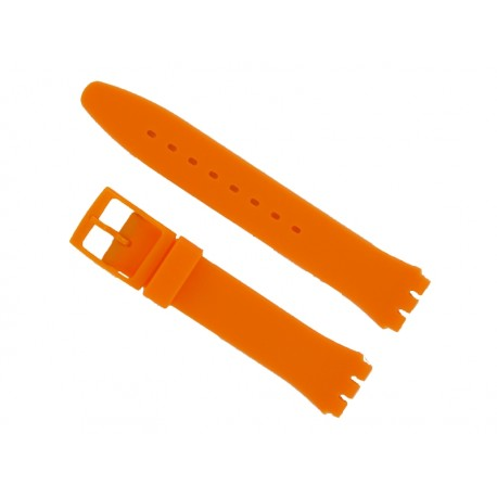 Orange Silicone Strap for Swatch Watch