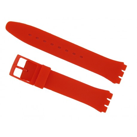 Red Silicone Strap for Swatch Watch